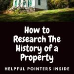 Research History of a Property